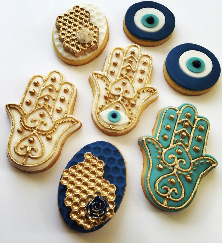 Hamsa cookies - Lorena Rodriguez                                                                                                                                                                                 More