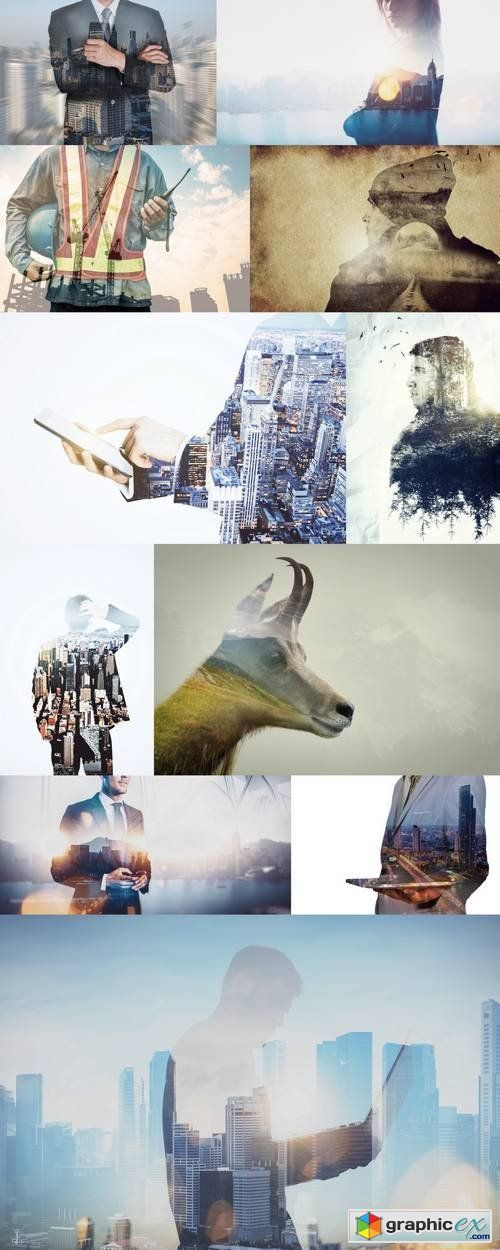 Double Exposure Photos  stock images