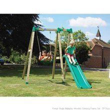 Tp Forest Single Multiplay Wooden Climbing Frame Set