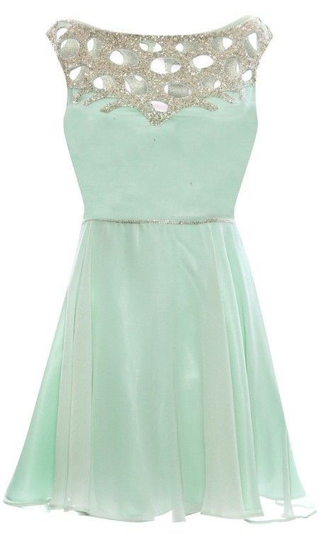 Mint dress...this could be cute for a small, informal wedding.