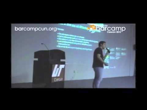 Invitación al StartupWeekend Mérida en la 1ra edición del Barcamp Cancún.