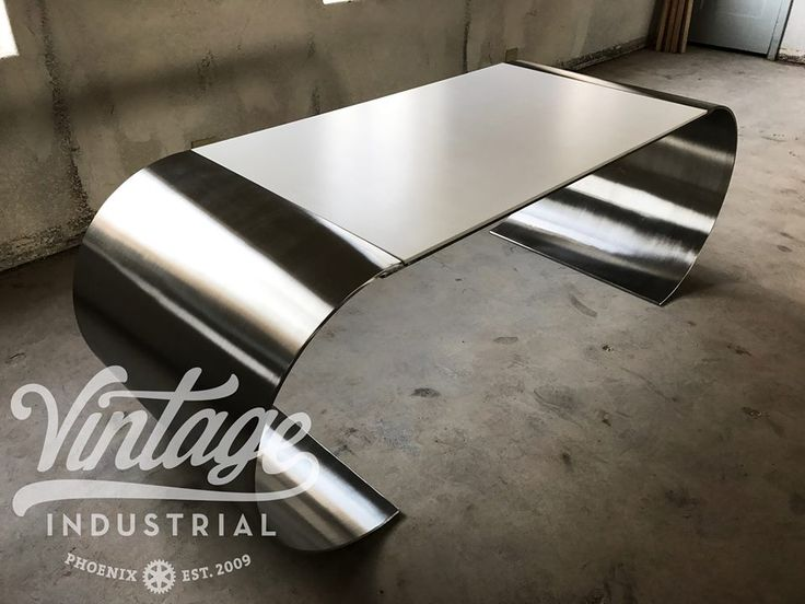 New desk design made of stainless and Corian. It just needs a name if you have any ideas?