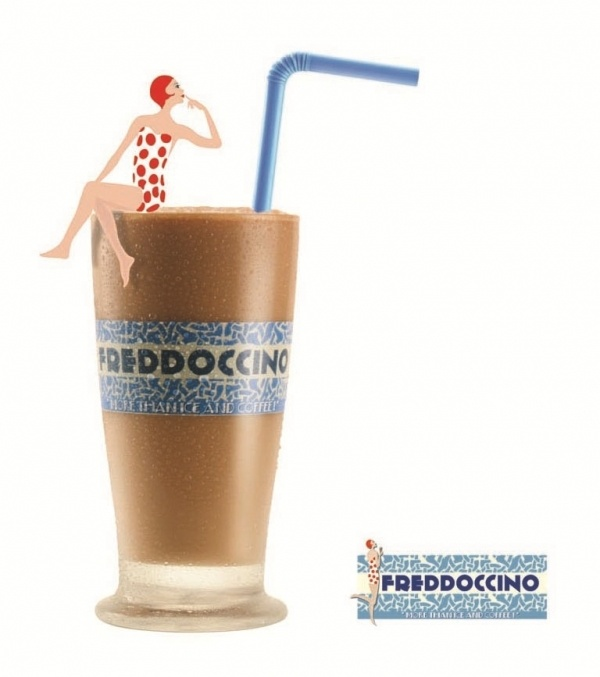 freddoccino - my evening out with friends beverage in Greece