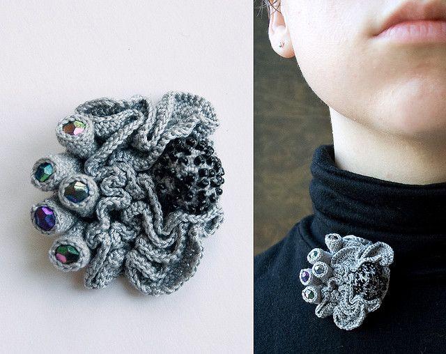 grey brooch/ madame ulani flickr
