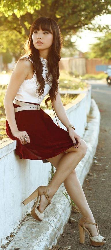 Street Style | Esther dress (worn as top), Tangerine Manila skirt, Louis Vuitton bag, Aldo heels