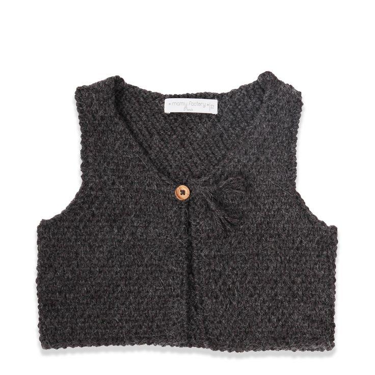 Tricoter un gilet sans manches pour bebe