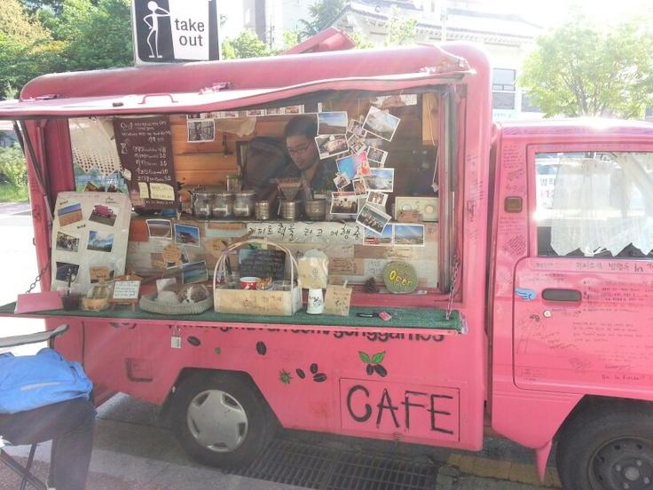 전주 건국청년 커피트럭 공간이.