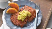 Sweet Potato Latkes with Grilled Pineapple Salsa