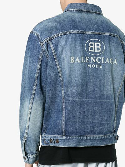 cc30ea2f Balenciaga Embroidered BB Mode denim jacket | Top - Outers | Jackets ...