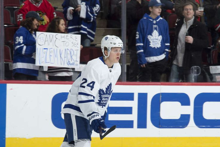 Kasperi Kapanen #24 of the Toronto Maple Leafs warms up prior to the game against the Chicago Blackhawks at the United Center on January 24, 2018 in Chicago, Illinois.