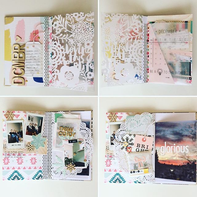 Some of the first pages of my December daily. Used the december calander from @elskeleenstra. #gathercollection #cratepapersnowandcocoa #amytangerine #memorykeeping #lifedocumented #almostchristmas