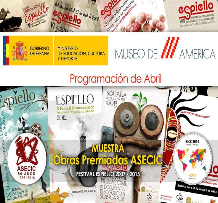 """Bukin's film """"Dreaming Nicaragua"""" screening at the """"Museo de América de Madrid"""" in Spain. April 2016."""