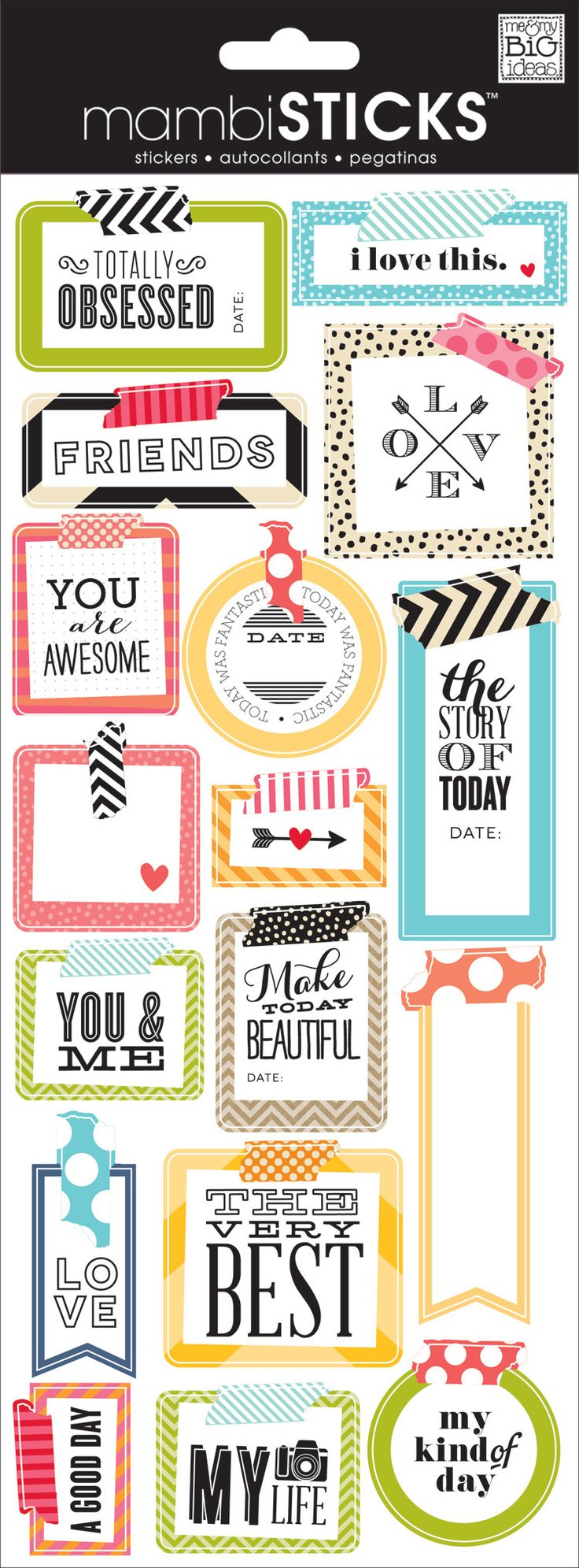 """Everyone loves stickers! They are so easy to use and add personality and design to any project. Just peel, stick and you're done! Each package contains one 5"""" x 12"""" sticker sheet. Item #: STP-175"""