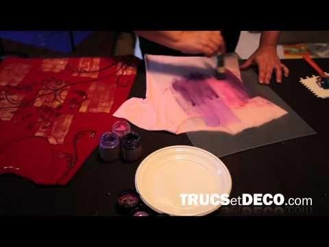 Comment peindre sur du tissu - Tutoriel vidéo - Trucs et Deco