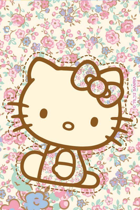 Flower Hk Hellokitty Iphone Wallpapers Hello Kitty Hello Kitty