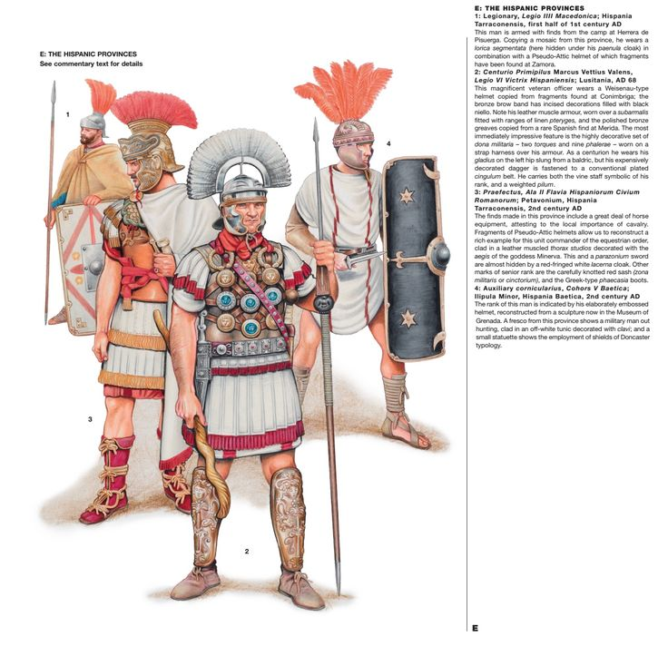 Rome; units serving in the Hispanic Provinces, 1st & 2nd Centuries AD,  Click on image to ENLARGE and double click to reduce.