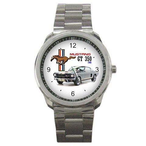 1966 ford mustang gt350 hertz shelby logo sport metal watch - Ford Mustang Shelby Logo