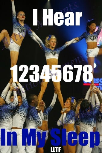Haaa! Ashley was counting out loud in her sleep at the last competition!