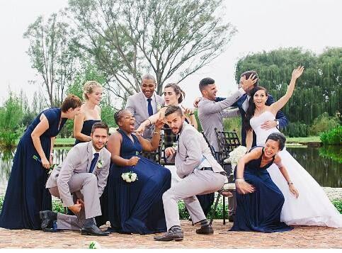 Navy blue Infinity Bridesmaids dresses, www.infinitybridalwear.co.za