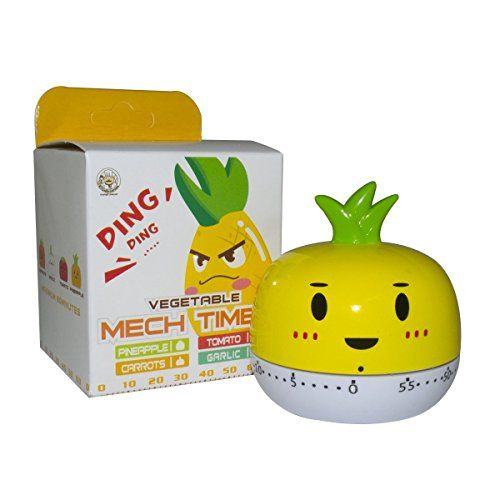 Anseahawk Assorted Colors Cute Mini Pineapple Kitchen Timer 55 Mins Alert (Yellow) Anseahawk http://www.amazon.com/dp/B013Y6T4IK/ref=cm_sw_r_pi_dp_XTJUwb0CASVS5