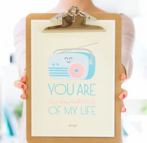 Affiche sur Clipboard – You are the soundtrack of my life - popmarket.fr