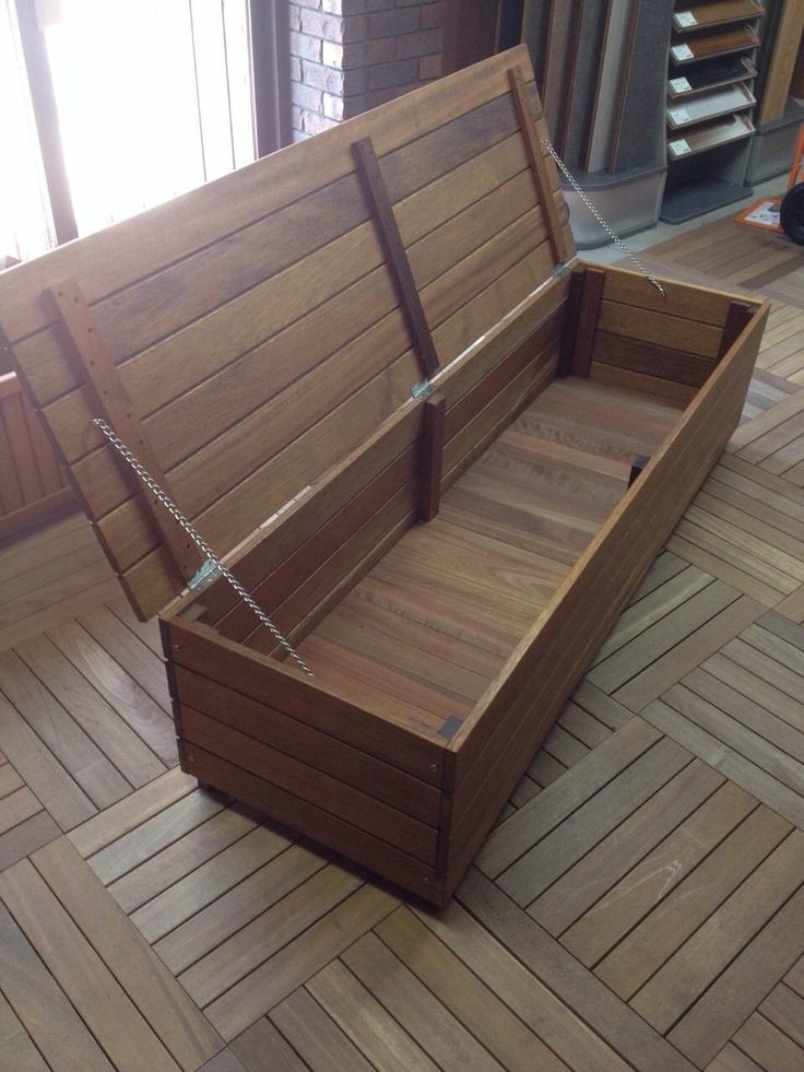 This Is An Idea For The Deck Outdoor Storage Bench Deck Seating