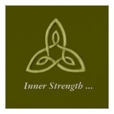 Green Celtic Symbol For Inner Strength Posters | Zazzle by clamchop