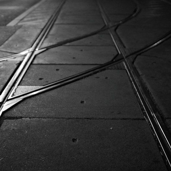 Crossed Lines, Vienna, Austria. #tramlines #blackandwhite #vienna #austria
