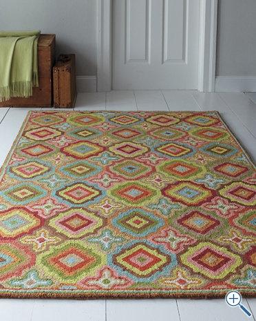 garnet hill floor tile hooked wool rug