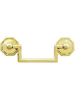 "Medium Chippendale Rosette Pull - 3"" Center to Center in unlacquered brass. $8.39 each"