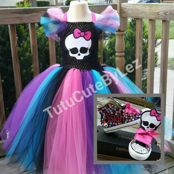 Monster High Tutu Dress With Or Without Converse by TuTuCutee