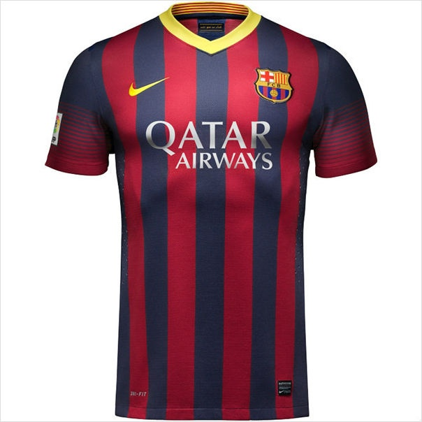 Mens 2013/14 FC Barcelona Home Soccer Jersey Football Shirt Trikot Maglia #Barcelona #Messi #Soccer #Football #Kit #WorldSoccerCity #SoccerAvenue #WorldCup #LaLiga #LionelMessi #Xavi #Fabregas #Iniesta