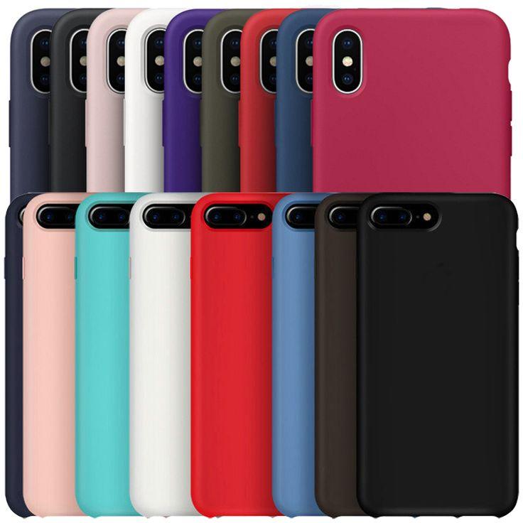 Original Tiene LOGO Oficial Funda de Silicona para el iphone 7 Plus Para Apple para el iphone 8 Plus Cubierta Del Teléfono Para el iphone 6 S 6 Más