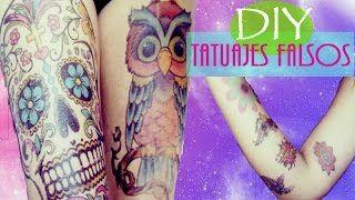 Como hacer Tatuajes Falsos/temporales en 1 minuto | Vivi Abi ♥ - YouTube