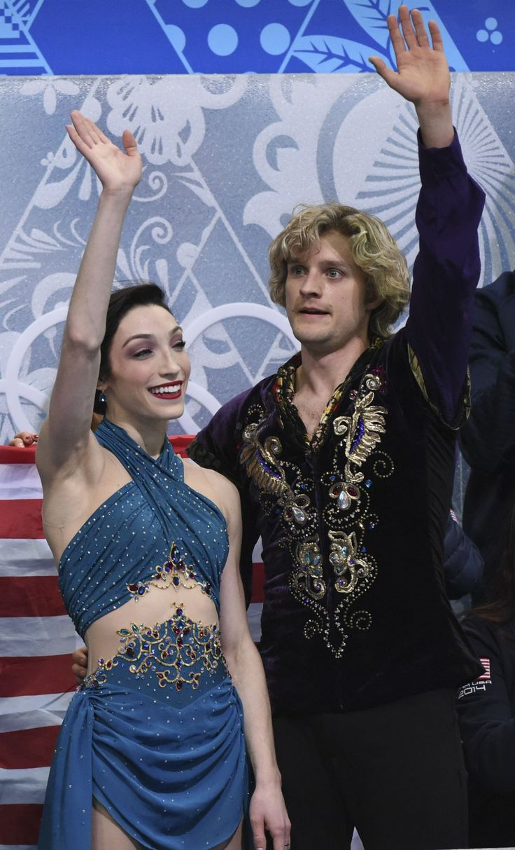 Meryl Davis and Charlie White (Robert Deutsch, USA TODAY Sports).  Costumes for when they skated to Scheherazade.