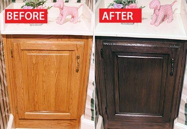 Before & After: A Honey Oak Cabinet Refinished
