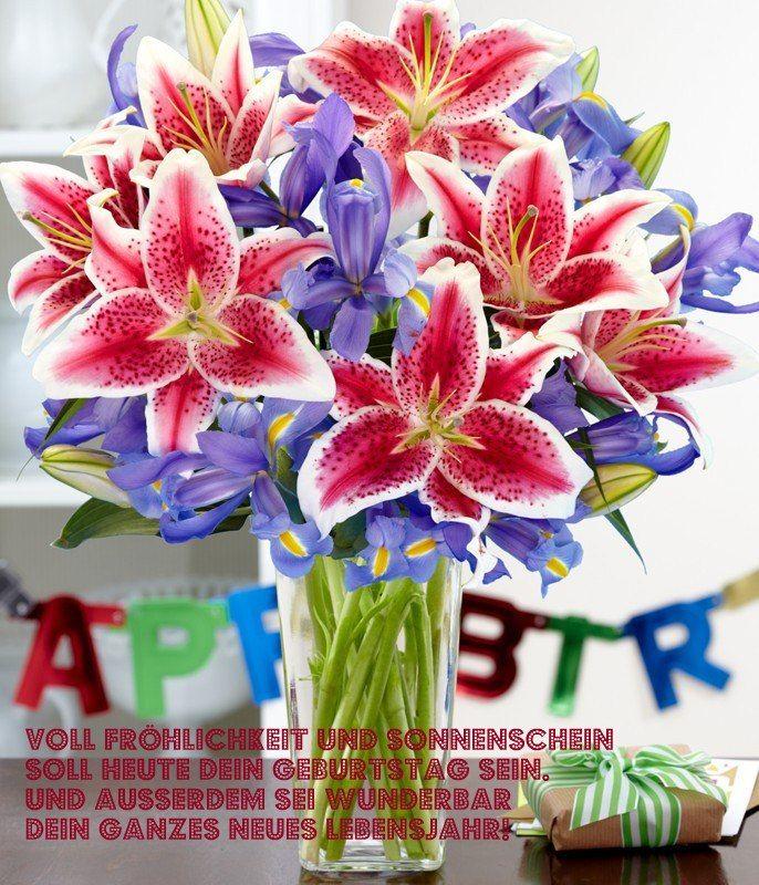 Voll Fröhlichkeit und Sonnenschein soll Heute dein Geburtstag sein