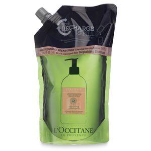 L'Occitanes blandning av rena och naturliga eteriska oljor av angelica, lavendel och pelargon, arbetar för att återuppliva torrt och skada