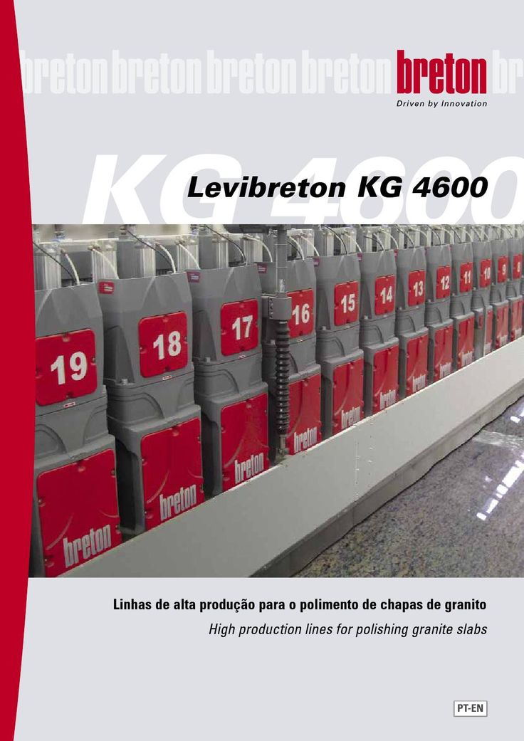 Levibreton KG 4600 Port-Eng 2015  Linhas de alta produção para o polimento de chapas de granito  High production lines for polishing granite slabs