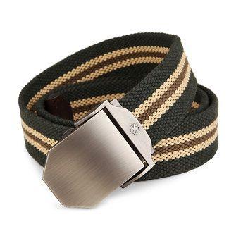 125CM Men Canvas Belt Thickening Alloy Buckle Pants Strip at Banggood
