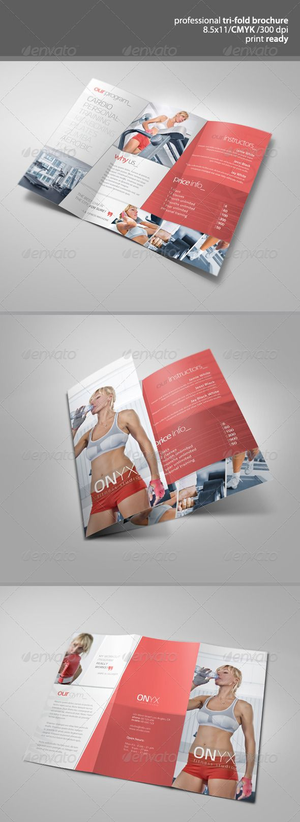 227 best images about 2014 tri fold brochure on pinterest for Fitness brochure design