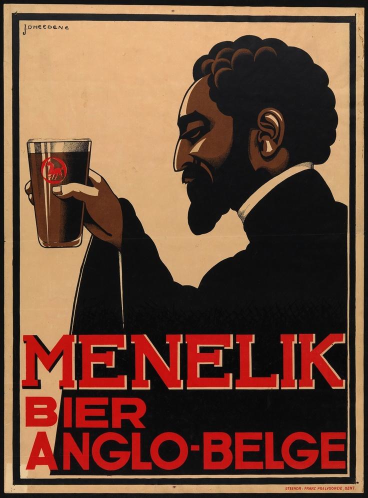 Menelik Beer Anglo-Belge (Commercial & advertising posters Belgium) #Booktower