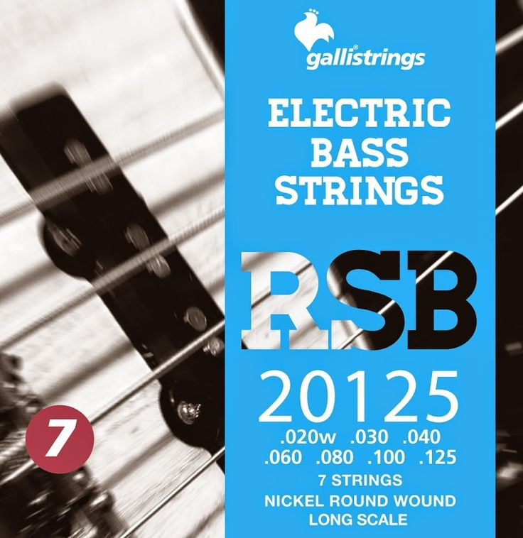 RSB 20125 7 strings nickel round wound regular .020 -.030 -.040 -.060 -.080 -.100-.125 RSB A nickel wrapped hexagonal core with a rough surface for those looking for a sparkling timbre, with a metallic sound, and long lasting. Gallistrings delivers the freshest strings stright from our facility to your instrument!