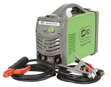 SIP Inverter Welder, Weldmate P187 Inverter Arc welder is manufactured to the highest quality by SIP. 230v (17amp) supply with a very high duty cycle of 160amp @ 80%. The current output range is 20-160amps and takes a rod of 1.6mm - 4mm.  Anti-stick circuitry for easy Arc strike. Complete with electrode holder, 3 metre cable, 3 metre earth lead. Very light weight welding machine and also an amazing 2 years warranty. Jebbtools.ie stock the full range of SIP Inverter Welders for Sale in…