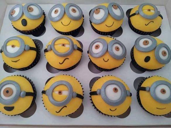 Despicable Me Minion Cupcakes.