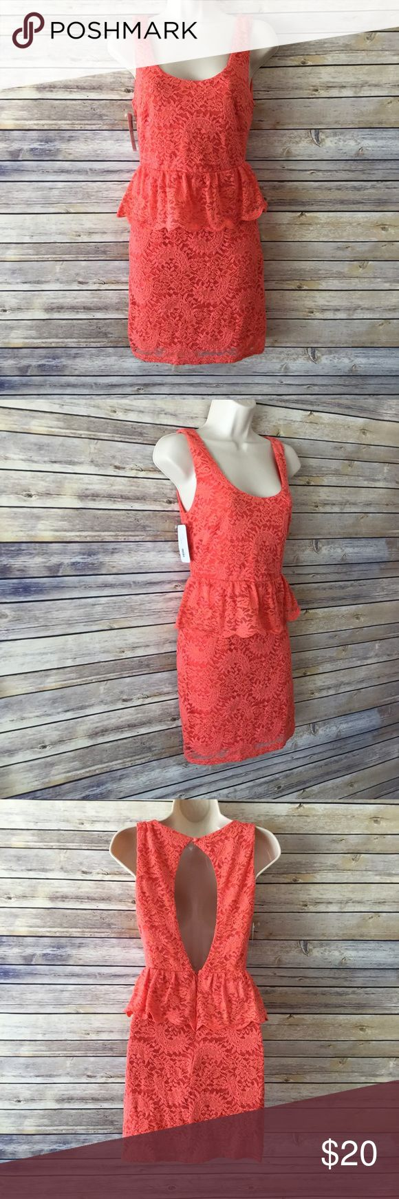 FLYING TOMATO Coral Lace Dress NWT Style description: FLYING TOMATO Coral Lace Dress NWT  Size: S  Condition: New with tags!  Measurements available upon request and all are taken while laying flat.Measurements are approximate. Flying Tomato Dresses