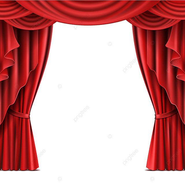 Stage Curtain With Copyspace Realistic Vector Stage Red Curtain Png And Vector With Transparent Background For Free Download