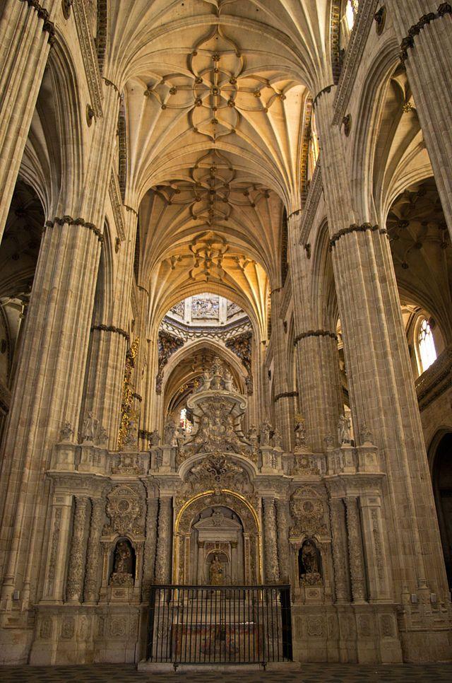 Catedral Nueva de Salamanca. Vista interior.
