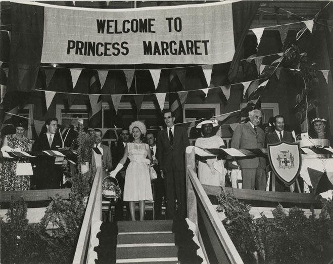 Prime Minister, the late Sir Alexander Bustamante dancing with Princess Margaret at the Independence Ball. Description from blogs.jamaicans.com. I searched for this on bing.com/images