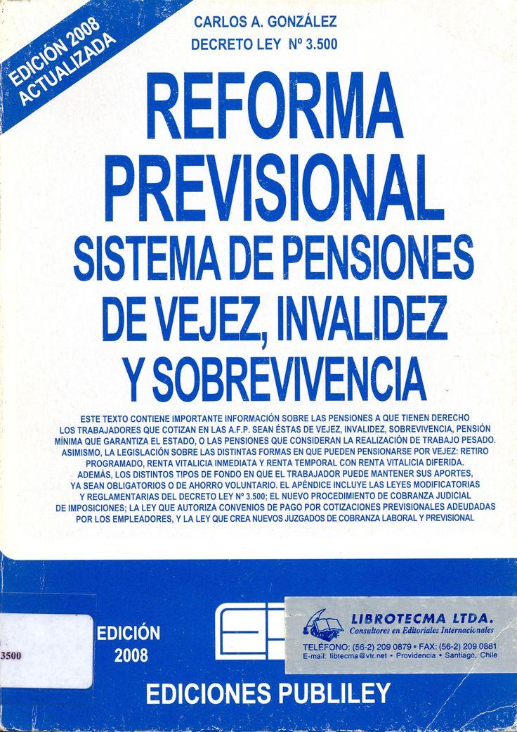 #reformaprevisionalsistemasdepensionesdevejezinvalidezysobrevivencia #carlosgonzalez #publiley #seguridadsocial #legislación #pensiones #escueladecomerciodesantiago #bibliotecaccs